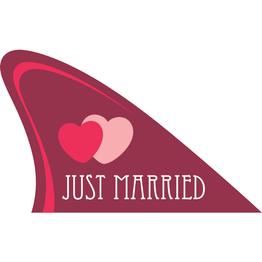 Pinna magnetica tiene ca. 15 kg, articolo magnetico per la vostra auto, 'Just married'