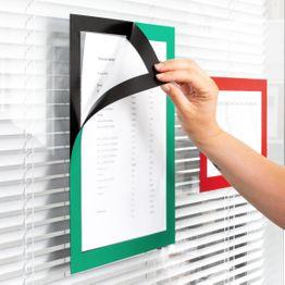 Cadre magnétique autocollant A4 pochettes aimantées pour afficher des informations, format A4