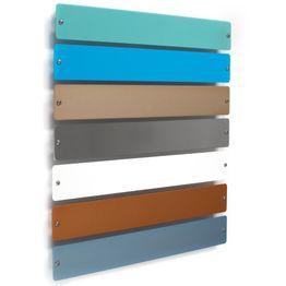 """Metalen strip """"Element Small"""" 35 cm hechtondergrond voor magneten, om te schroeven, incl. 6 sterke magneten, in verschillende kleuren"""