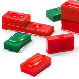 M-BLOCK-01 Quadermagnete mit Kunststoffhülle, hält ca. 5,5 kg, wasserdicht, 5er-Set, in verschiedenen Farben