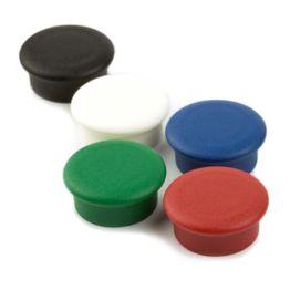 """Bordmagneten """"Boston Xtra Mini"""" rond houdt ca. 1,5 kg, magneetbord magneten neodymium, Ø 20 mm, set van 10, in verschillende kleuren"""