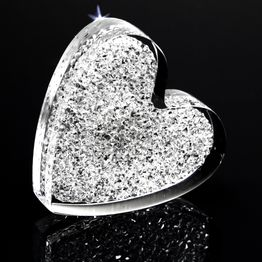 Glitter Heart strong fridge magnet, with Swarovski crystals