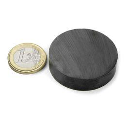 FE-S-40-10 Disque magnétique Ø 40 mm, hauteur 10 mm, ferrite, Y35, sans placage