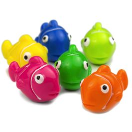 Clownfish deco magnets in the shape of fish, set of 6