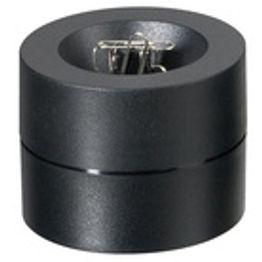 Papercliphouder magnetisch met sterke kernmagneet, van kunststof, zwart