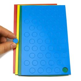 Magnetic symbols Circle small for whiteboards & planning boards, 50 symbols per sheet, in different colours