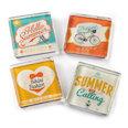 Aimants pour frigo avec des motifs estivaux, lot de 4