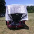 Bâche de protection solaire 3 x 5 m, protège contre la chaleur & les coups de soleil