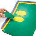 Pour tableaux blancs & tableaux de planning, 10 symboles par feuille A4, dans différentes couleurs
