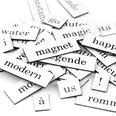 Mots, syllabes et signes de ponctuation, 510 pièces, disponibles en différentes langues