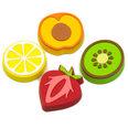 Aimants décoratifs en forme de fruits, set de 4 pièces