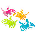 Aimants décoratifs en forme de papillons, Set de 4 pièces