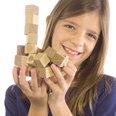 27 cubes magnétiques en bois, en bois de chêne huilé