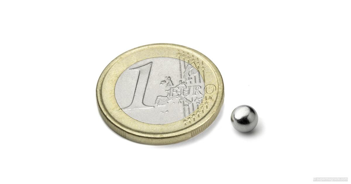 Silver 100 billes aimant/ées de 5 mm pour tableau blanc tableau magn/étique ou r/éfrig/érateur