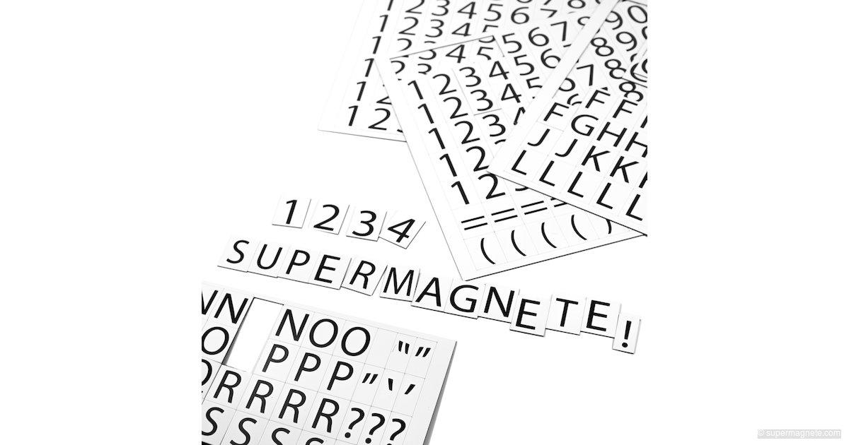 lettres chiffres magn tiques pour tableau blanc tiquetage d 39 tag res. Black Bedroom Furniture Sets. Home Design Ideas