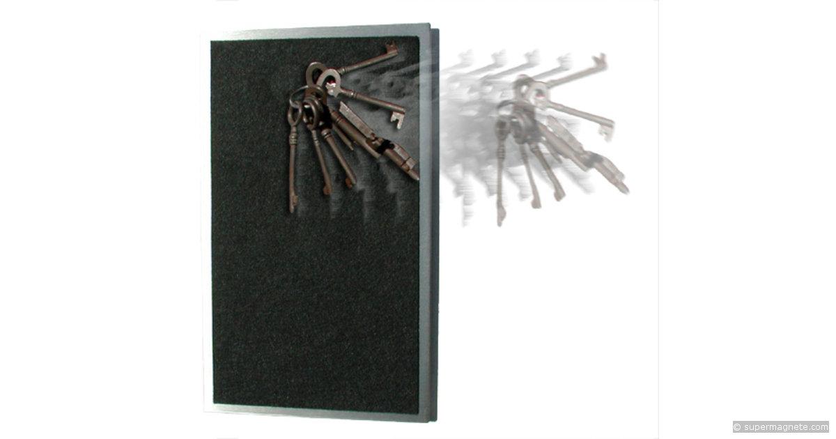 Panneau magn tique pour cl s 25 x 15 inox for Panneau inox autocollant