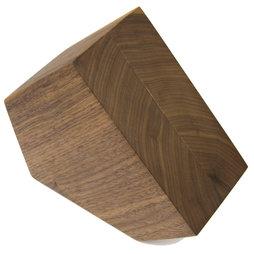 M-KNIFEB-002/walnut, Bloc à couteaux magnétique Pentagon, bois de noyer, pour couteaux jusqu'à 900 g