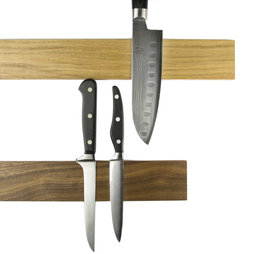 M-KNIFEP-001, Knife rack magnetic 45 cm, magnetic strip, made of wood, for knives up to 500 g