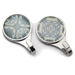 LIV-70, Magnetic hook Azulejos, magnetic hooks with tile pattern, set of 2