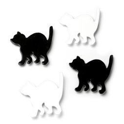 LIV-69, Kitty, aimants puissants chats pour réfrigérateur, lot de 4