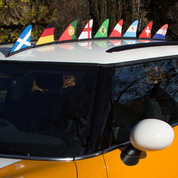 M-42, Fan fin country flag, magnetic flag for the car