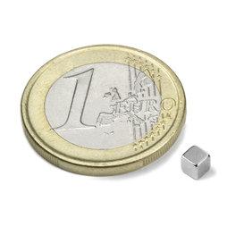 W-03-N, Cubo magnético 3 mm, neodimio, N45, niquelado