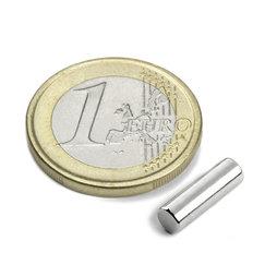 S-04-13-N, Rod magnet Ø 4 mm, height 12,5 mm, neodymium, N42, nickel-plated