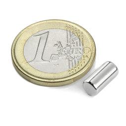S-05-10-N, Rod magnet Ø 5 mm, height 10 mm, neodymium, N45, nickel-plated