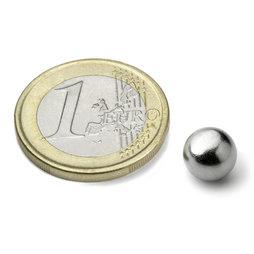 K-08-C, Bille magnétique Ø 8 mm, néodyme, N38, chromé