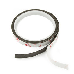 NMT-10-STIC/01m, Magnetic adhesive tape neodymium 10 mm, self-adhesive magnetic tape, extra-strong adhesive force, roll at 1 m