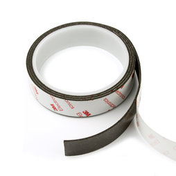NMT-20-STIC/01m, Magnetic adhesive tape neodymium 20 mm, self-adhesive magnetic tape, extra-strong adhesive force, roll at 1 m