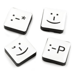 LIV-88, Emoticons, fridge magnets square, set of 4