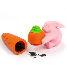 M-70, Tea infuser Rabbit&Carrot, silicone tea infuser, non-magnetic!