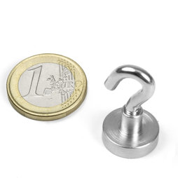 FTN-16, Hook magnet, Ø 16 mm, thread M4, strength approx. 8 kg