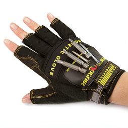 WS-FMG-M, Magnetische handschoen M, voor spijkers, schroeven, bits enz., maat M