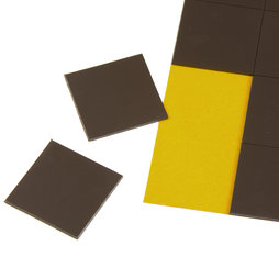 MS-TAKKI-02, Magnetic squares 30 x 30 mm, self-adhesive magnetic squares, 20 pieces per sheet