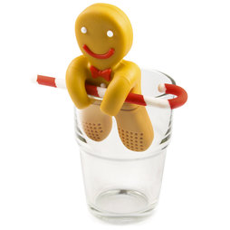 M-72, Tea infuser Gingerbread Man, silicone tea infuser, non-magnetic!