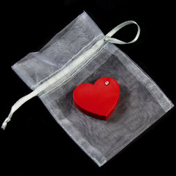 LIV-90, Red Heart, fridge magnet Heart, with zircon