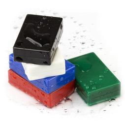 M-BLOCK-01, Bloques magnéticos con funda de plástico, 5 uds. por set, varios colores