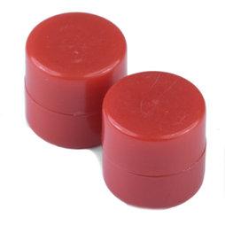 M-DISC-01/red, Schijfmagneten met kunststof ommanteling Ø 9,4 mm, 10 stuks per set, rood