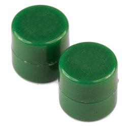 M-DISC-01/green, Schijfmagneten met kunststof ommanteling Ø 9,4 mm, 10 stuks per set, groen