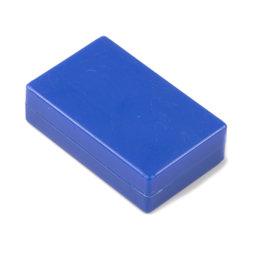M-BLOCK-01/blue, Parallélépipèdes magnétiques avec enrobage en matière synthétique, lot de 5 pcs., bleu