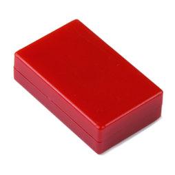M-BLOCK-01/red, Parallélépipèdes magnétiques avec enrobage en matière synthétique, lot de 5 pcs., rouge