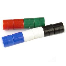 M-DISC-01/mixed1, Dischi magnetici con involucro di plastica Ø 9,4 mm, 10 pezzi per set, colori assortiti