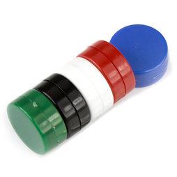 M-DISC-02/mixed1, Disque magnétique avec enveloppe en matière synthétique, lot de 5 pcs., couleurs assorties