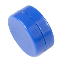 M-DISC-02/blue, Disc magnets with plastic cover Ø 13,4 mm, 5 per set, blue