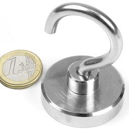 FTN-40, Hook magnet, Ø 40 mm, Thread M6, strength approx. 55 kg