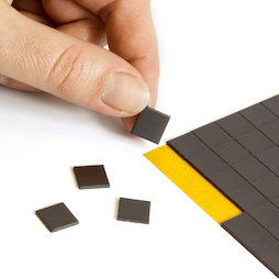 MS-TAKKI-03, Takkis 10 x 10 mm, self-adhesive magnetic squares, 160 pieces per sheet