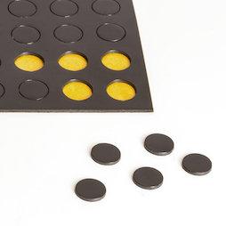 MS-TAKKI-04, Takkis round 10 mm, self-adhesive magnetic circles, 60 pieces per sheet