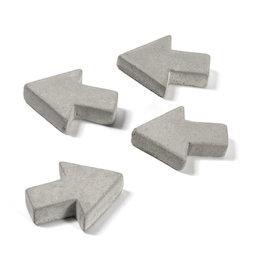 LIV-97/concrete1, Magneti in cemento, frecce, set da 4